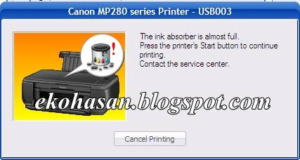 Cara Reset Canon Mp287 Error E08
