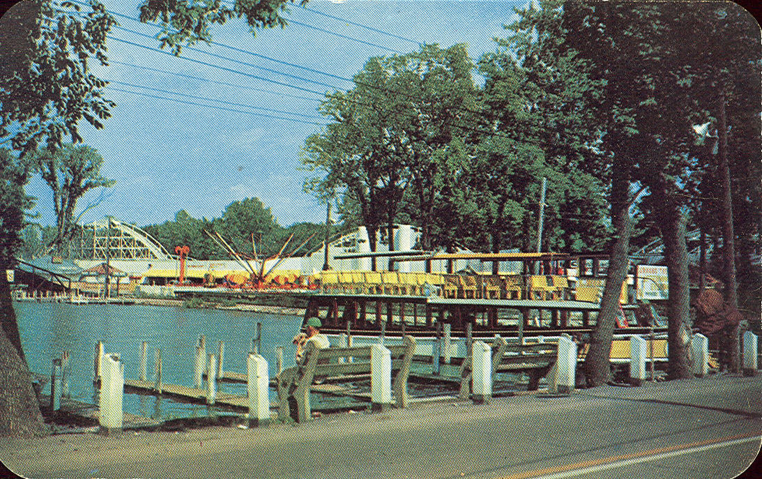 Vintage travel postcards russells point ohio for Indian lake ohio fishing