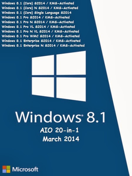 Windows 8.1 Spring AIO 20in1 March 2014