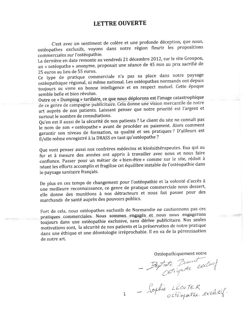 exemple lettre de motivation ecole d'osteopathie