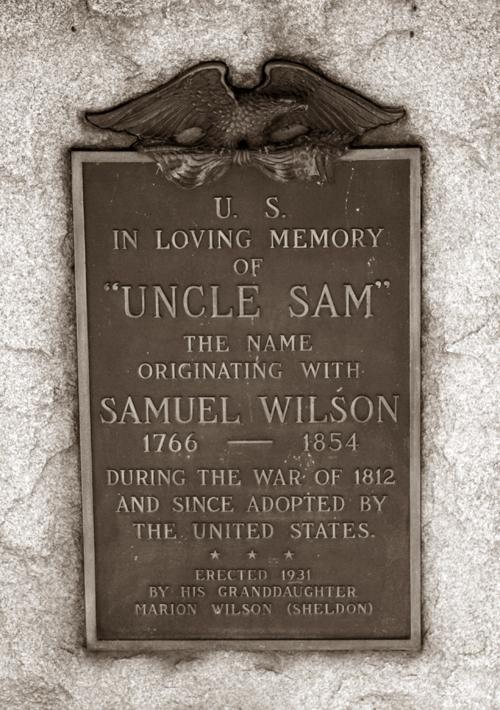 Grabstein von Uncle Sam in Troy, NY