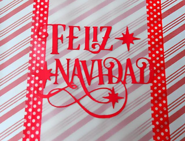 Felicitación navideña en rojo