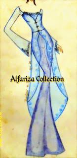 "desain sketsa kebaya ""abaya"""