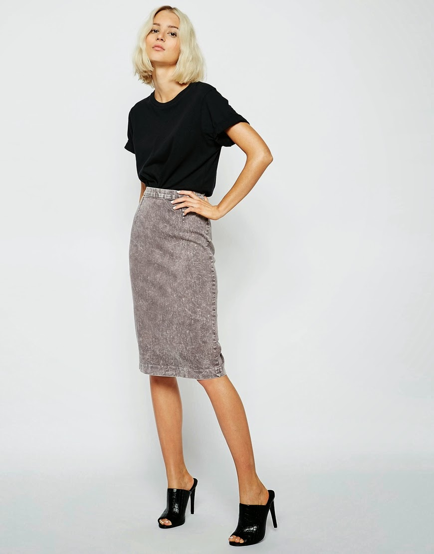 cheap monday denim skirt, grey denim skirt,