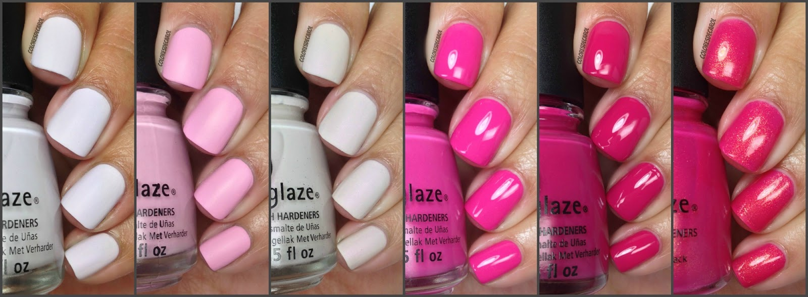 colores de carol: china glaze - celebrate courage. breast cancer