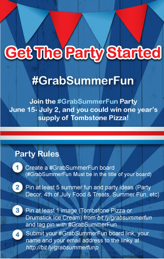 Tombstone, Nestle, #GrabSummerFun, Pinterest, Pinterest Party, Giveaways