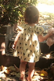 Chamomile & Peppermint Blog - Little deer girls dress from Kewpie Kids Collective