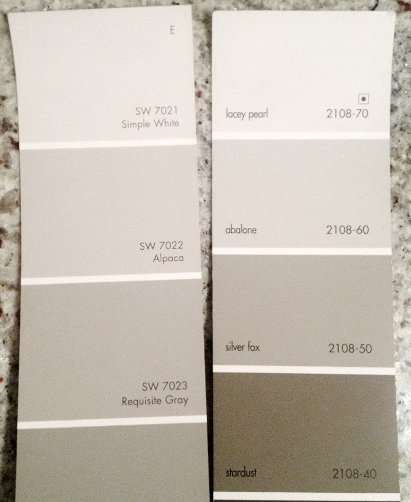 by the enormous popularity of Benjamin Moore's Revere Pewter