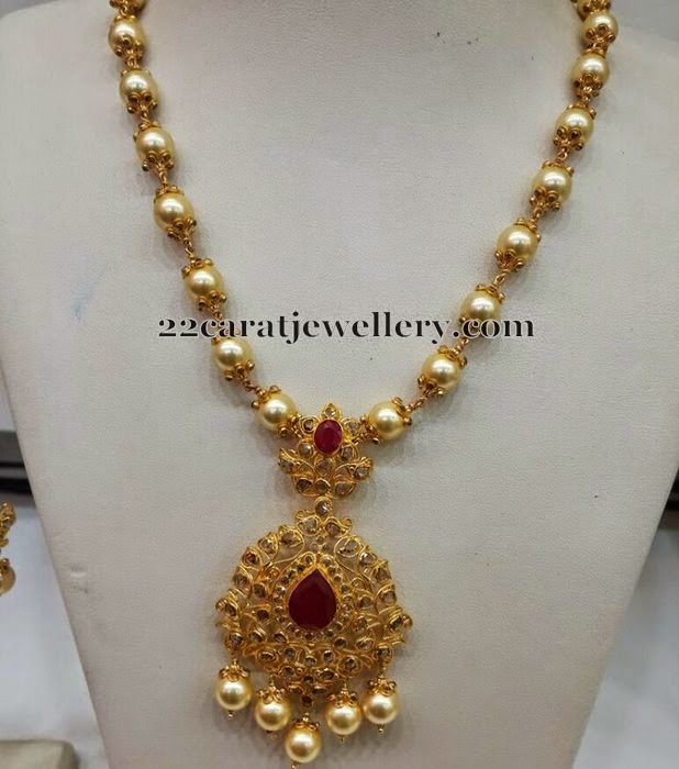 Gold Price In Hyderabad >> South Sea Pearls Long Set - Jewellery Designs