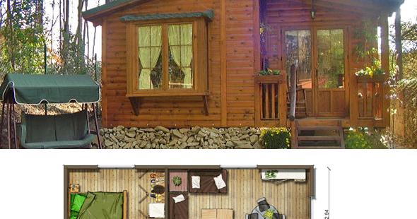 Casas de madera en espa a planos casas de madera 50 m2 - Casa de madera espana ...