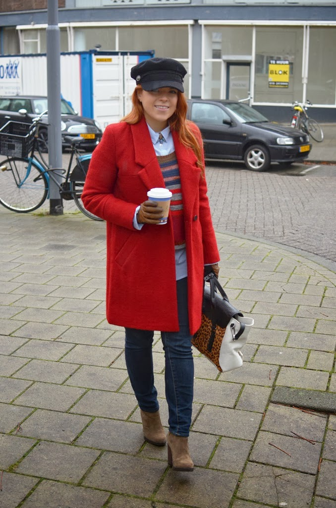 Zara coat, street style looks, fashion-bridge.logspot.com fashion-bridge blog, hm cap, Phillip Lim Pashli bag