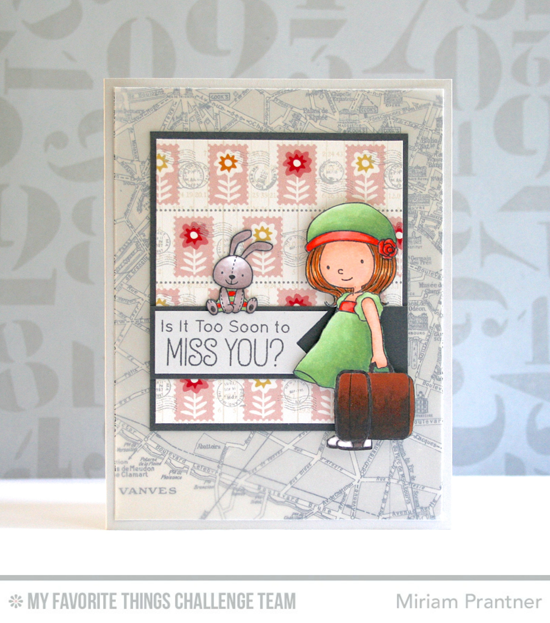 Too Soon to Miss You Card by MIriam Prantner featuring the Birdie Brown Adventure is Calling stamp set