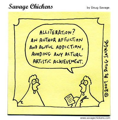Tina's Poetry Blog: Alliteration