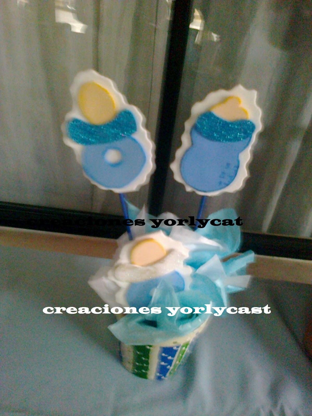 Creaciones yorlycast centro de mesas para baby shower - Adornos baby shower nino ...