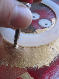 how to make gold leaf halos