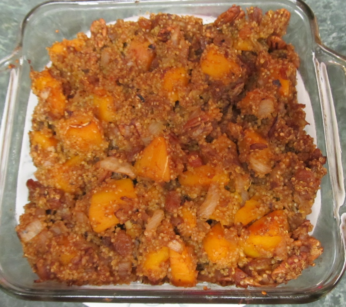 ... Does Dinner... Healthy & Low Calorie: Butternut Squash Quinoa Stuffing