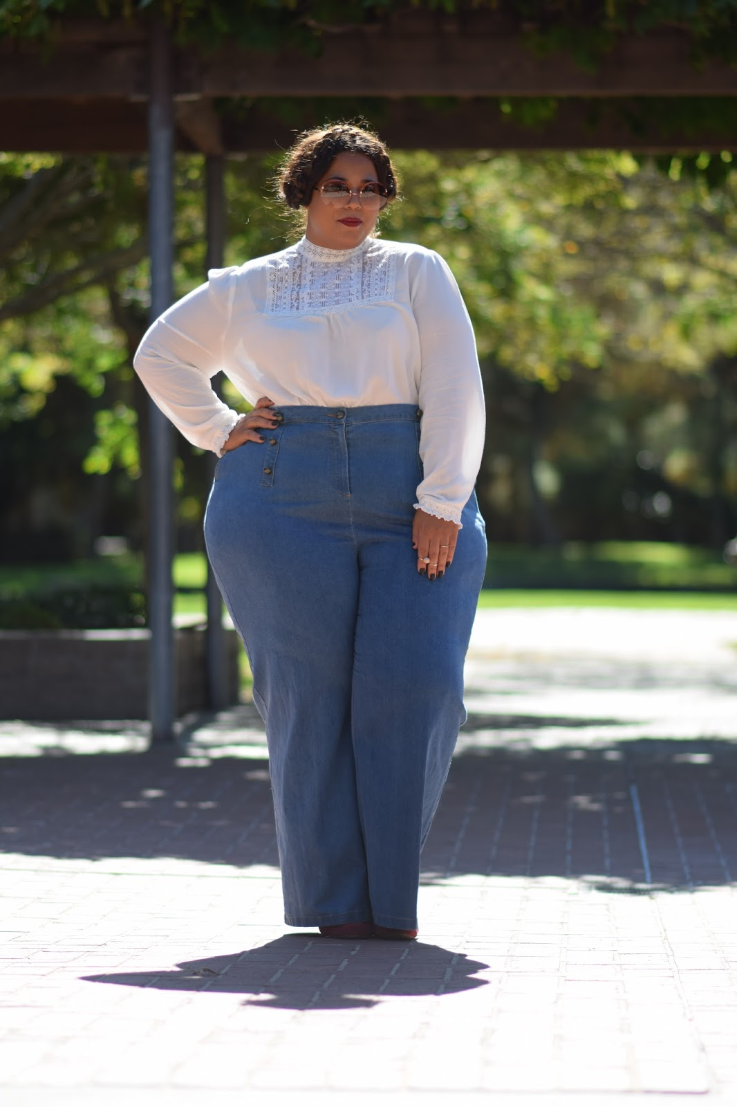 If i was fat nicole richie garnerstyle for Tucked in shirt plus size