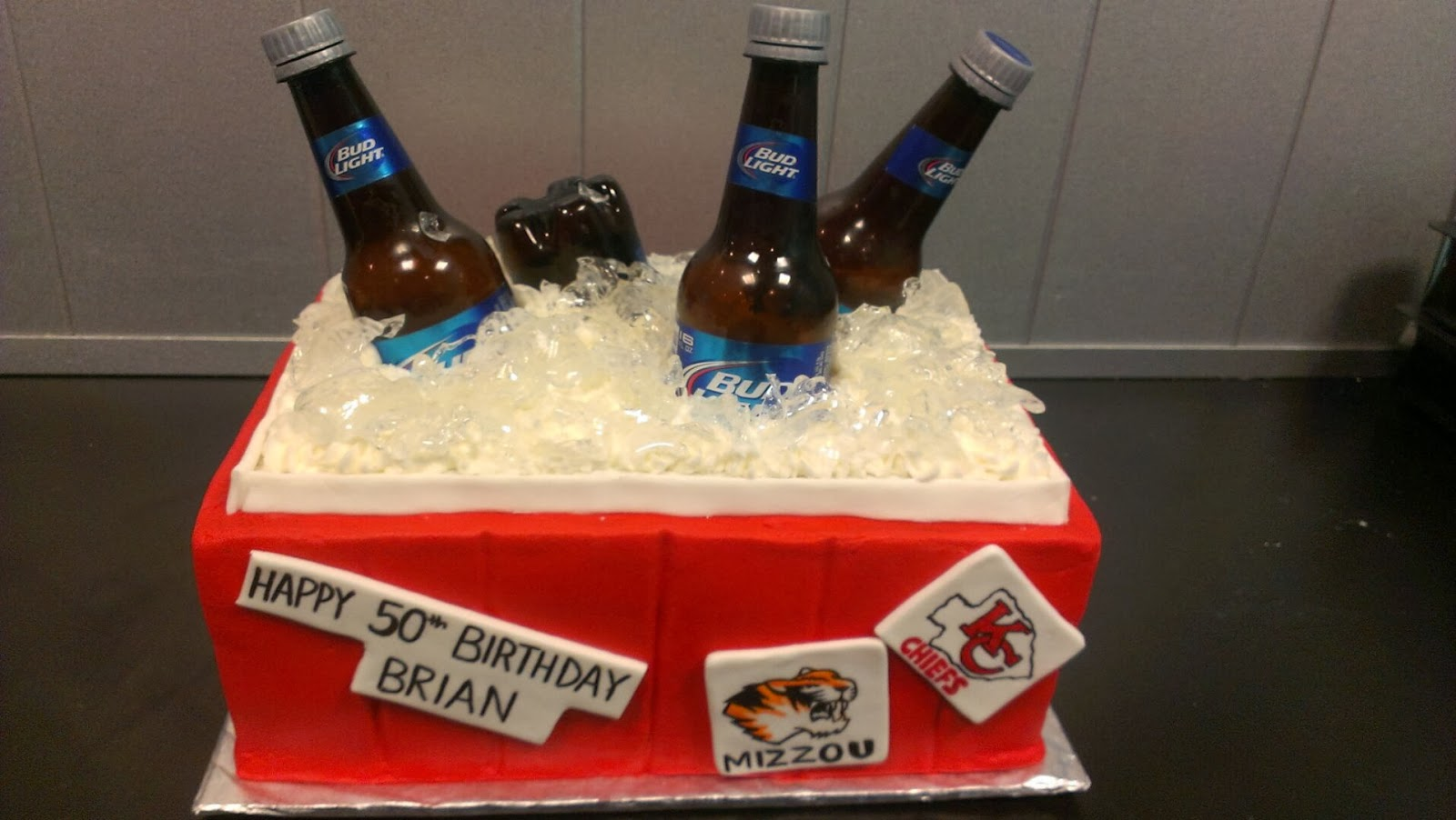 Beer Ice Chest Cake