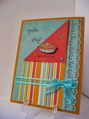 Sweetie Pie Card by Barbara Campbell using Newton's Nook Designs Stamps