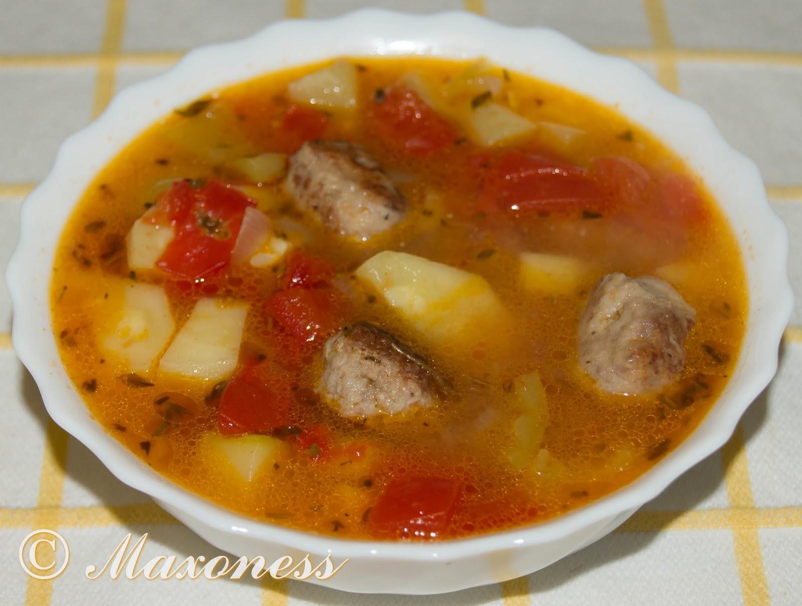 Густой суп с кабачками