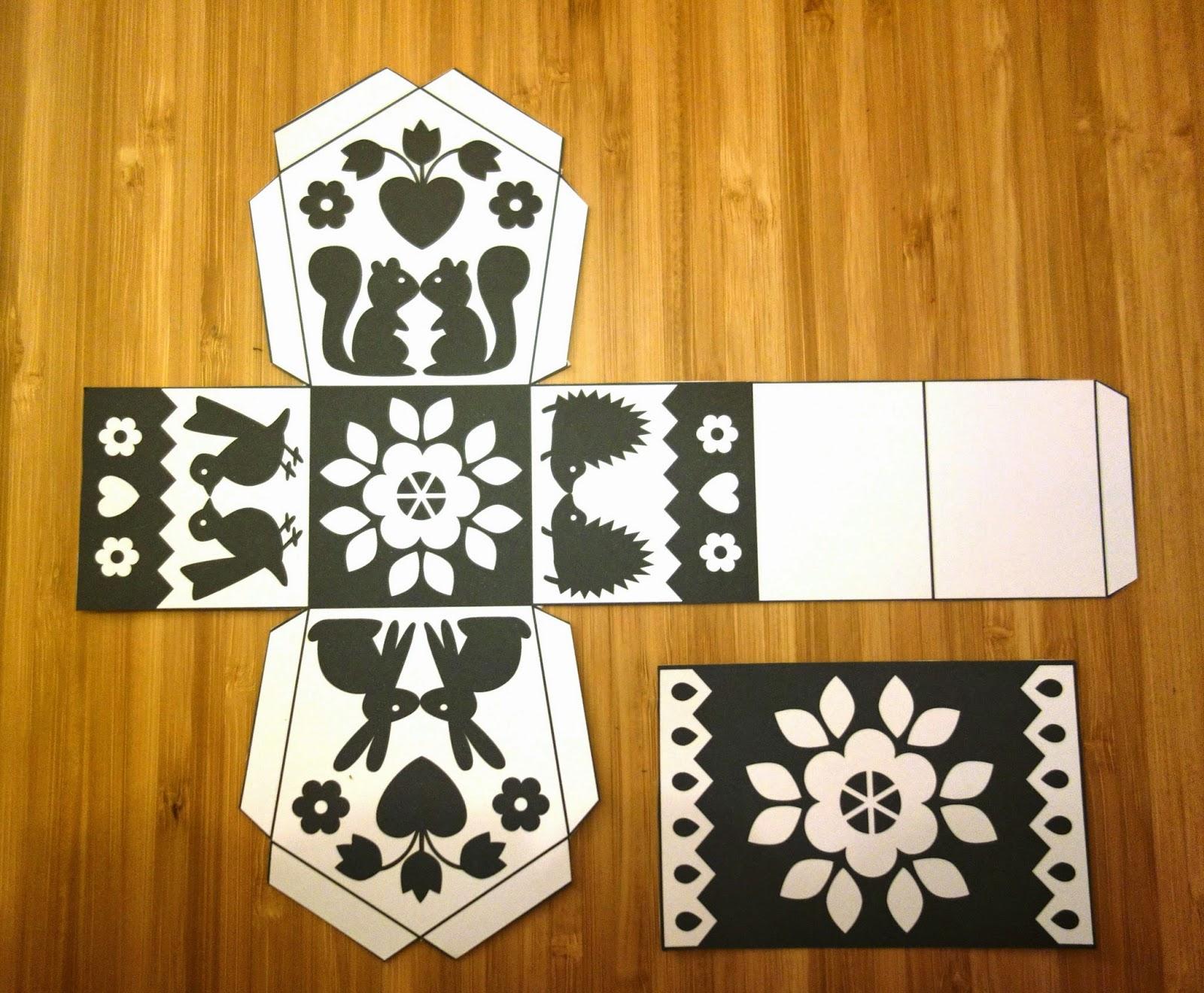 Diy des maisons color es imprimer vite fait initiales gg - Patron de maison en papier a imprimer ...