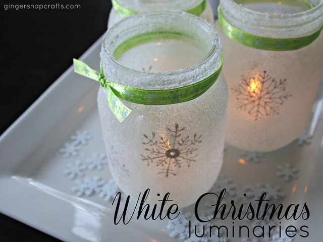 http://www.gingersnapcrafts.com/2012/11/white-christmas-mason-jar-luminaries.html