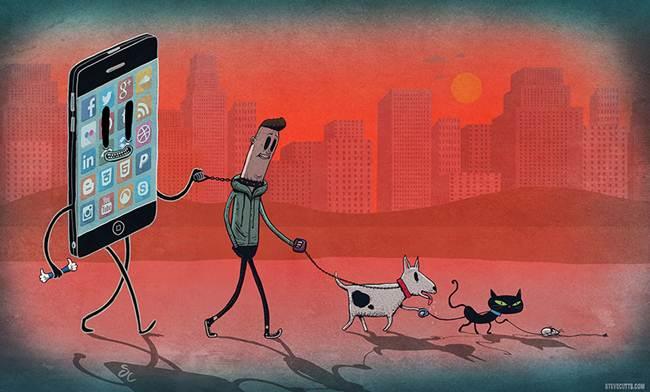 oameni controlati de smartphone
