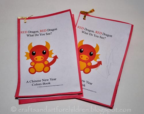 Red Dragon Chinese New Year Coloring Book for kids