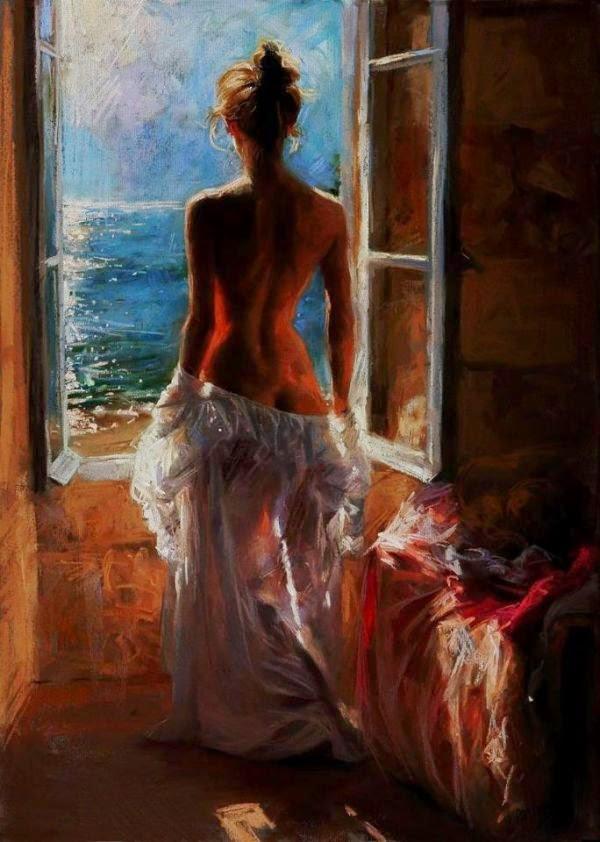 Peinture de Vincente Romero érotique