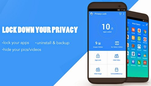 tidak ada pilihan mengunci semua aplikasi Kunci aplikasi, sembunyi gambar dan video dengan Privacy Lock