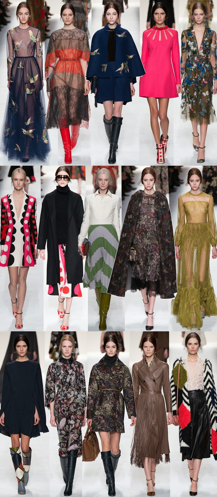 Valentino fall winter 2014 runway collection, PFW, Paris fashion week, FW14, AW14, Mara Grazia Chiuri, Pier Paolo Piccioli