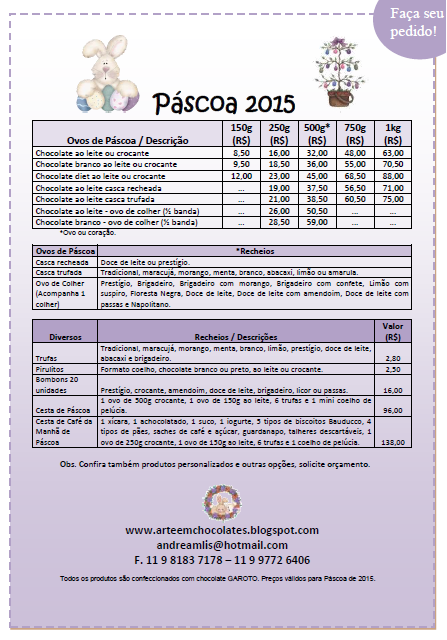 Lista de Páscoa 2015!