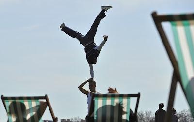гимнастици в Хайд парк