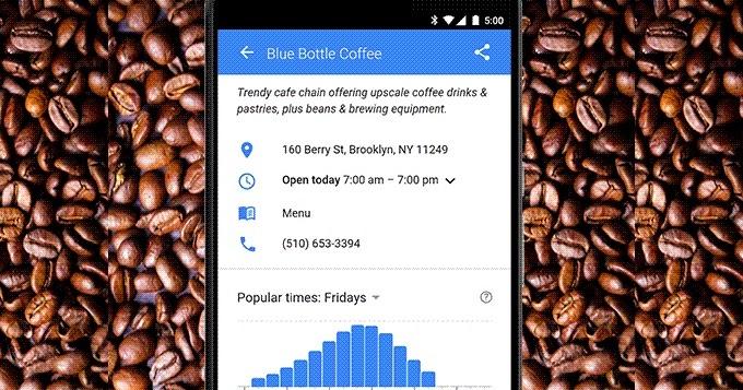 Google já mostra gráficos de afluência de estabelecimentos comerciais