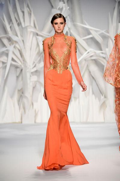 turuncu gece elbiseleri