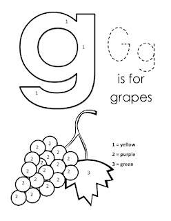 Kids Page Alphabet Letter G lowercase