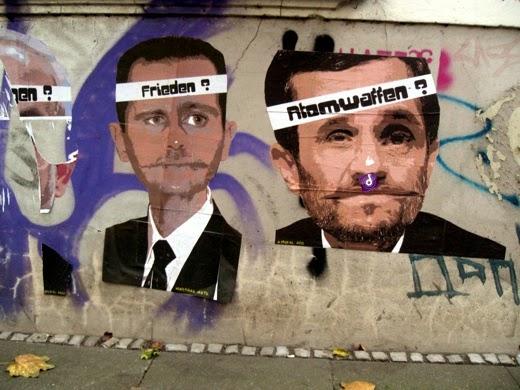 Streetart Paste Up politische Themen