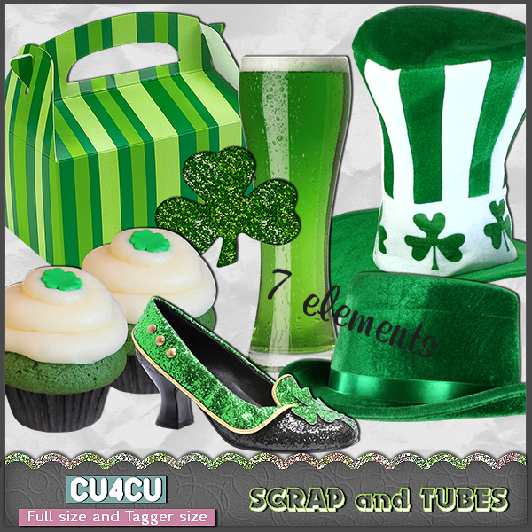 Free scrapbook St. Patrick's Day Element from Scrap and tubes