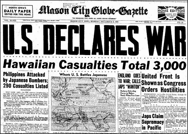 the history of the united states of america in pearl harbor When japanese attacked the us naval base on 7 december 1941, the rest of   and civilians were killed, making it the deadliest military conflict in history  but  after pearl harbor there were consequences for another group:.