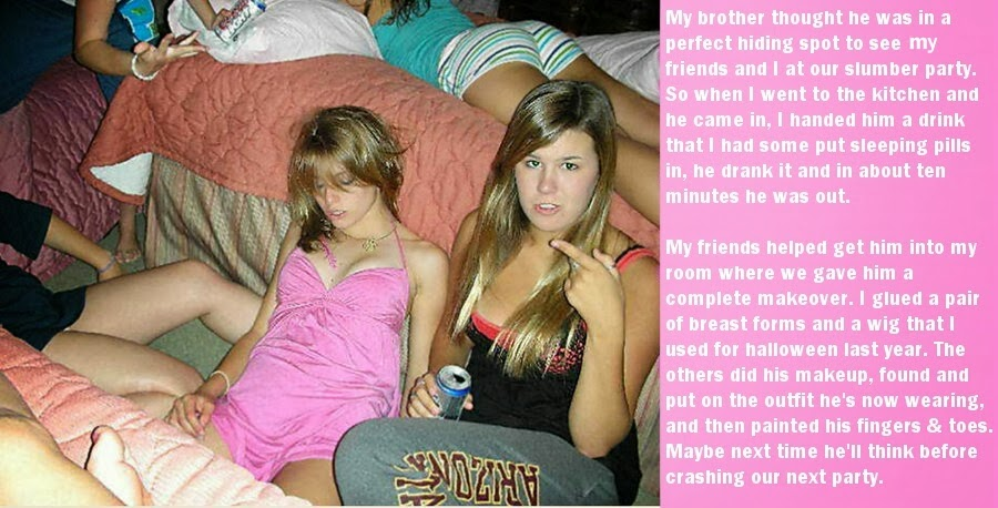 Sissy Caught Makeover Feminzed Story Site Jessica S Captions Sleepover
