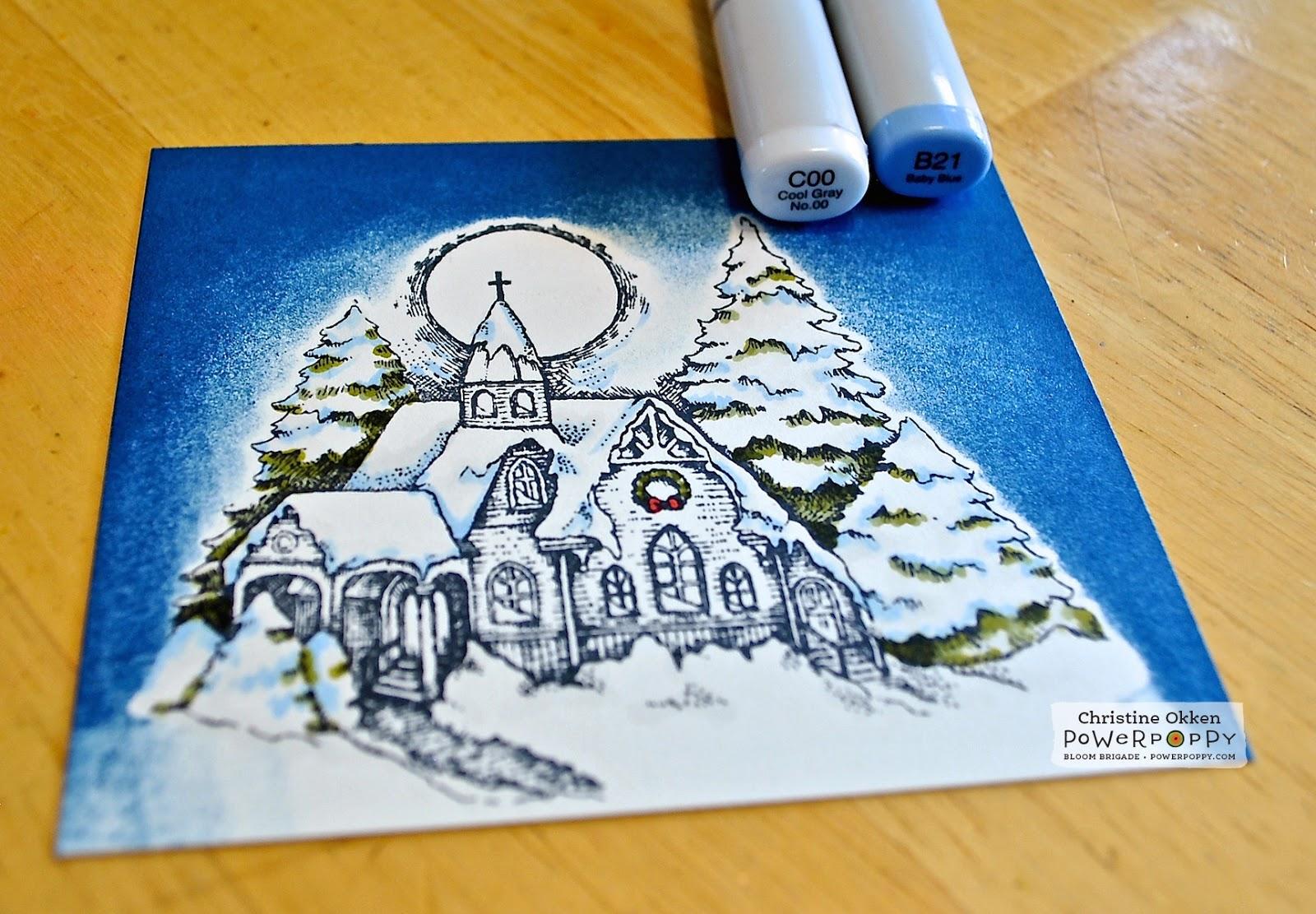 Power Poppy - The Blog: Colouring Moonlit Winter Snow