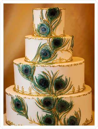 Wedding Cakes Pictures Peacock Wedding Cakes