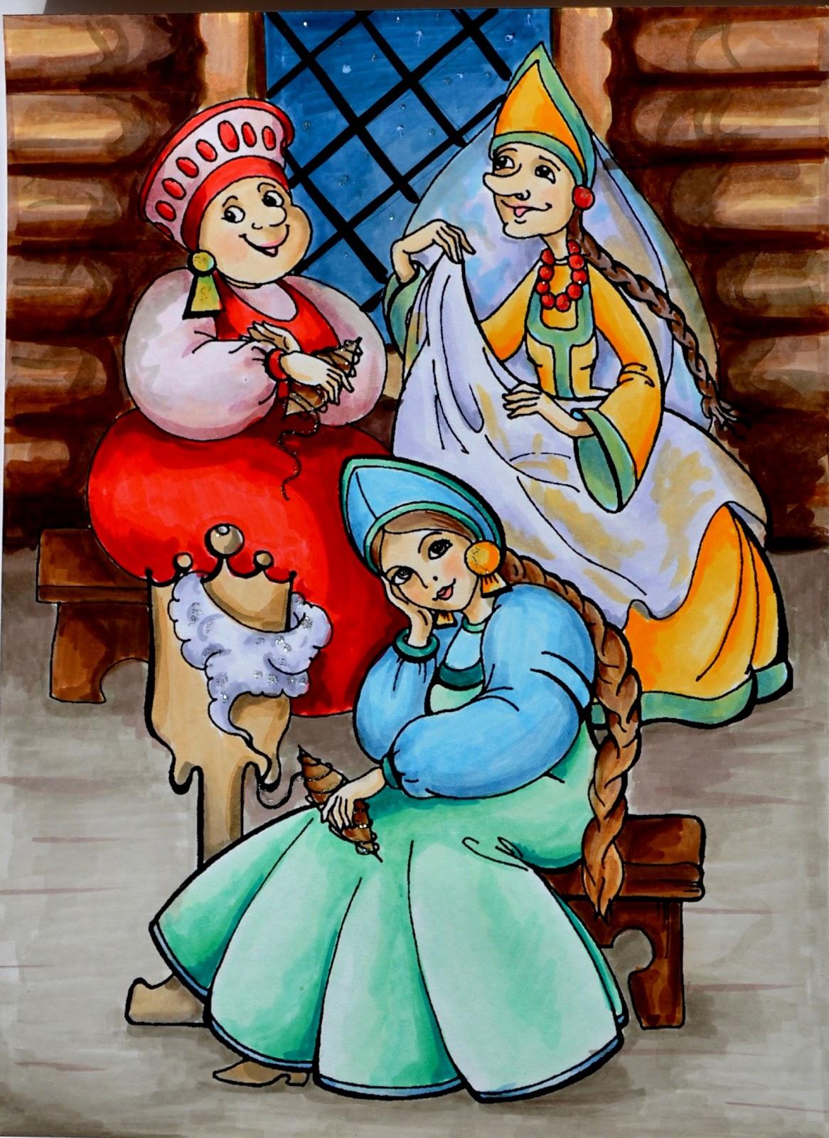 Сказка о царе салтане рисунок лебедя