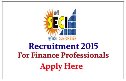 Solar Energy Corporation of India Recruitment 2015 for various posts