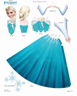 bonecas de papel Frozen Disney