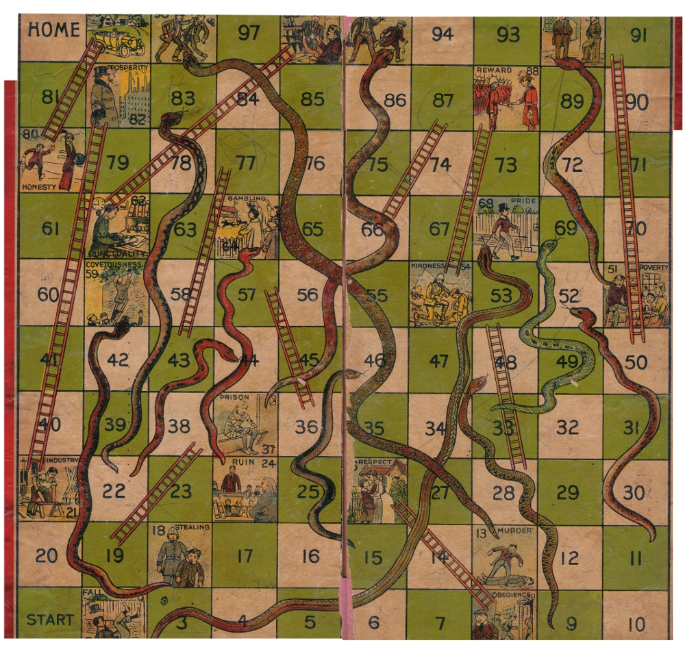Australia Snakes and Ladders Game Board