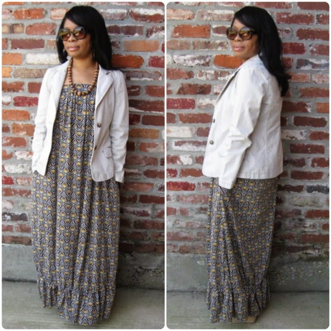 DIY Sewing Long Sleeved T-Shirt Maxi Dress