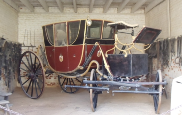 18th century carriage at Mount Vernon