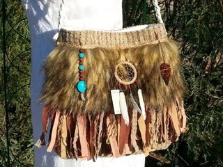 Native American themed gypsy fringe purse by Pursuation
