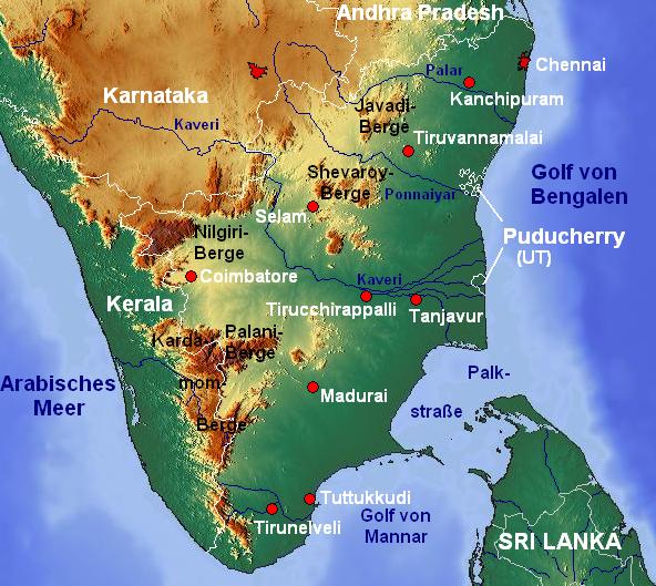 Tamil Nadu India  city photos : ... in India | Incredible India: Tamil Nadu Tourism | Tamil Nadu Map